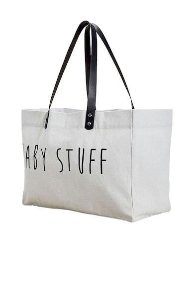 NEXT Geanta shopper din bumbac cu model text Femei