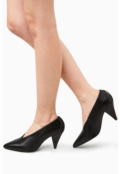 NEXT Bőr magas sarkú cipő női