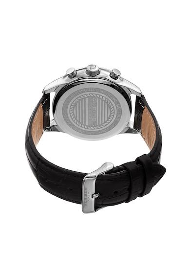 AKRIBOS XXIV Ceas cronograf rotund cu o curea cu model crocodil Barbati