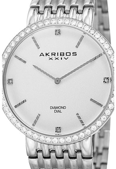 AKRIBOS XXIV Часовник с диаманти Мъже