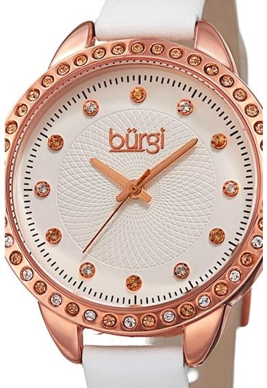 BURGI Кварцов часовник с кожена каишка Жени