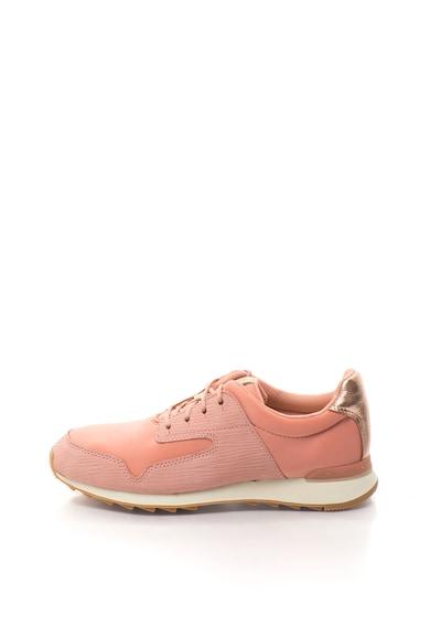 Clarks Floura Mix sneakers cipő bőrbetétekkel női