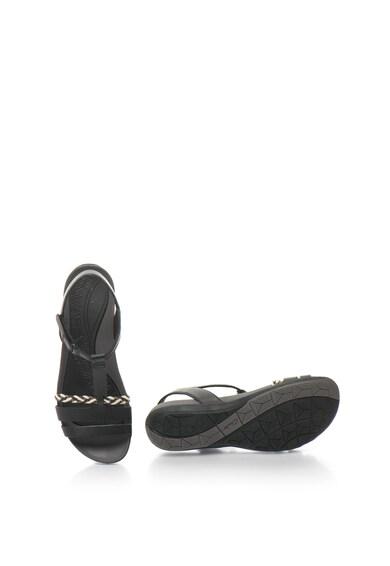 Clarks Flat Sandals, Кожени сандали Tealite Grace със сплетен детайл Жени