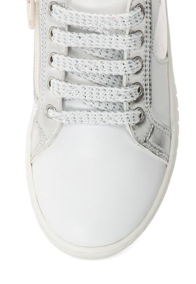Zee Lane Pantofi sport din piele cu garnituri cu aspect metalizat Fete