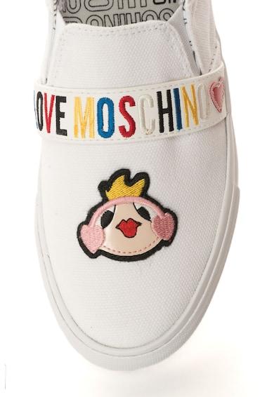 Love Moschino Pantofi slip-on cu aplicatii decorative Femei