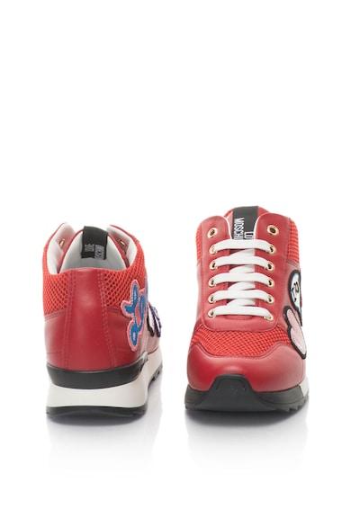 Love Moschino Pantofi sport din piele sintetica cu wedge ascuns si decoratiuni Femei