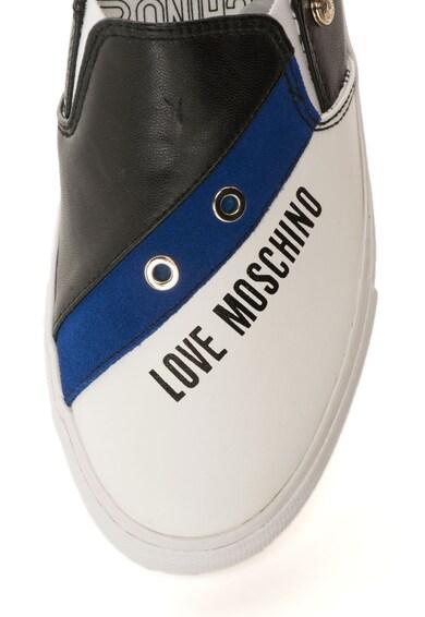 Love Moschino Pantofi slip-on din piele sintetica cu imprimeu logo Femei