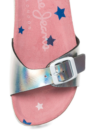 Pepe Jeans London Papuci cu aspect metalizat Bio Arcoiris Fete