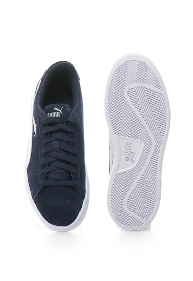 Puma Smash v2 nyersbőr és bőr sneakers cipő logóval női
