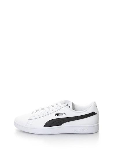 Puma Pantofi sport unisex, cu garnituri de piele Smash v2 L Femei