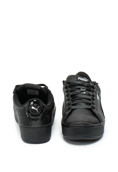 Puma Pantofi sport flatform din satin Vikky Femei