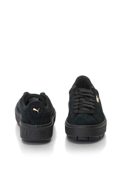 Puma Pantofi sport flatform de piele intoarsa Trace Femei