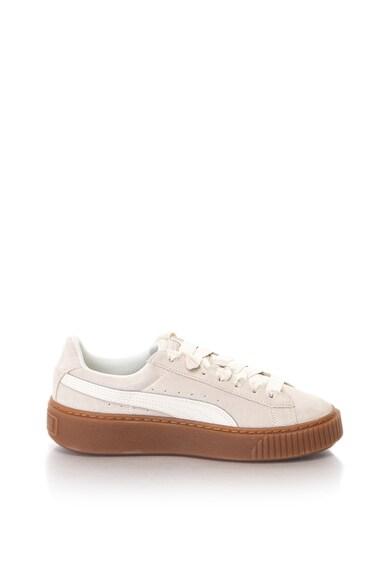 Puma Platform Bubble nyersbőr sneakers cipő női