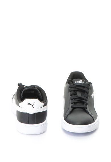 Puma Pantofi sport de piele cu insertii de piele ecologica Smash v2 Fete