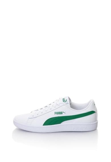 Puma Pantofi sport unisex cu garnituri de piele Smash v2 Femei