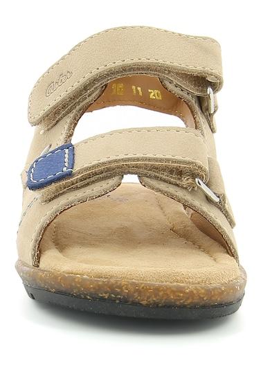 Aster kids Sandale de piele nabuc cu garnituri contrastante Sostec Baieti