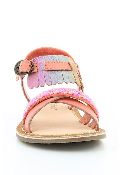Kickers kids Sandale de piele si material textil cu margele DIXIE Fete