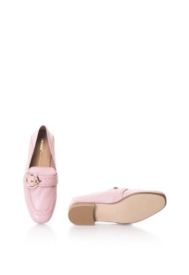 Bronx Pantofi loafer de piele, cu tinte Femei