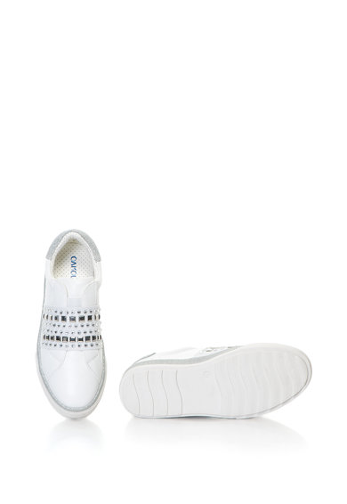 Oakoui Pantofi sport slip-on din piele sintetica cu strasuri si particule stralucitore Femei