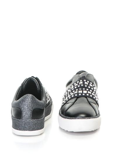 Oakoui Bebújós műbőr cipő strasszkövekkel női