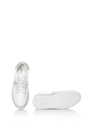 Oakoui Műbőr sneakers cipő csillámos szegélyekkel női