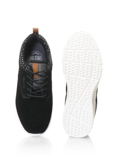 Big Star Pantofi sport de piele intoarsa cu detalii perforate, pentru antrenament Barbati