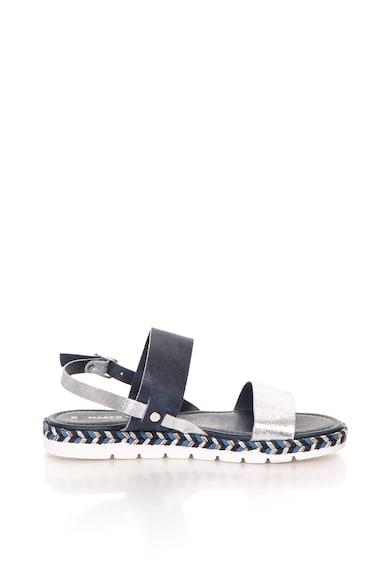 Marco Tozzi Sandale slingback de piele cu insertie metalizata Femei