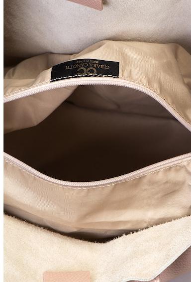 Chiara Canotti Geanta shopper din piele cu textura granulata Femei