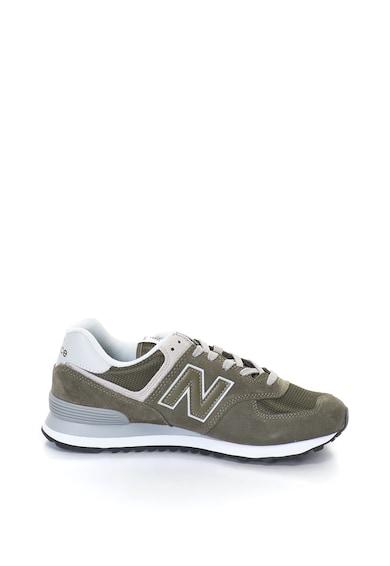 New Balance Велурени спортни обувки 574 с мрежести зони Мъже