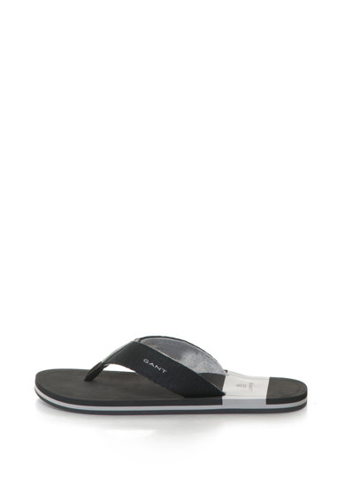 BREEZE flip-flop papucs bőr részletekkel - Gant (16699404-G00-BLACK) aa8aadfd74