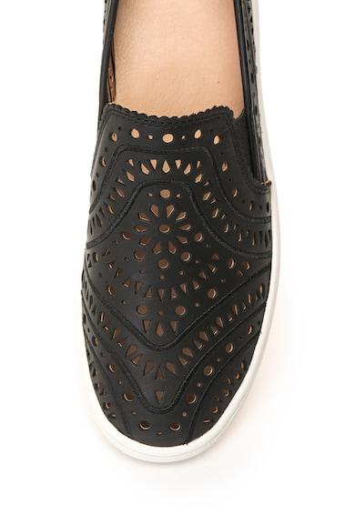 UGG Bebújós bőrcipő perforált dizájnnal női