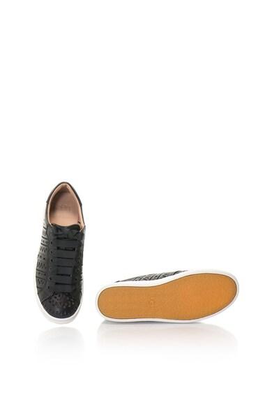 UGG Pantofi sport din piele cu aspect perforat Milo Femei