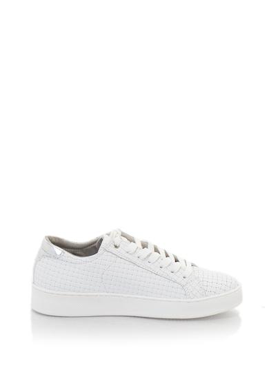 Tamaris Sneakers stílusú cipő bőr anyagbetétekkel és fonott hatással női