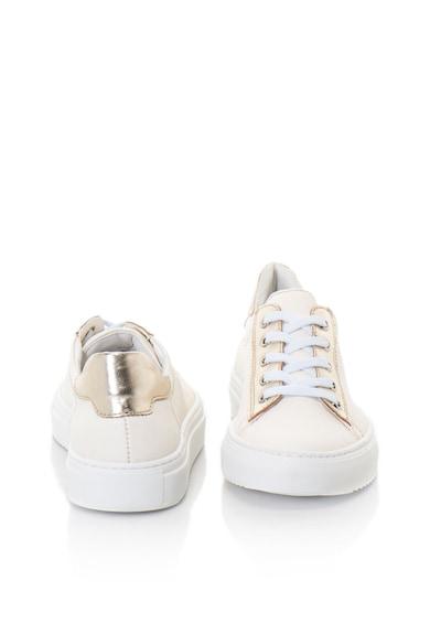 Zee Lane Bőr sneakers cipő fémes hatású részletekkel női