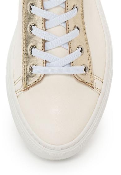 Zee Lane Pantofi sport de piele cu aspect metalizat Femei