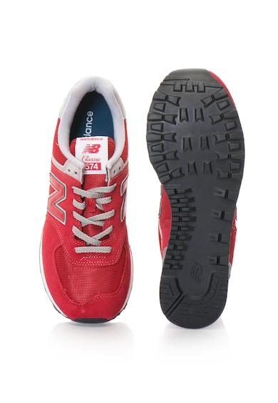 New Balance Pantofi sport unisex de piele intoarsa cu insertii de plasa Femei