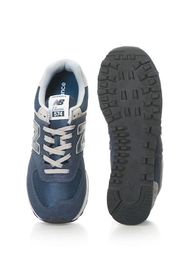 New Balance 574 nyersbőr sneakers cipő hálós anyagbetétekkel férfi