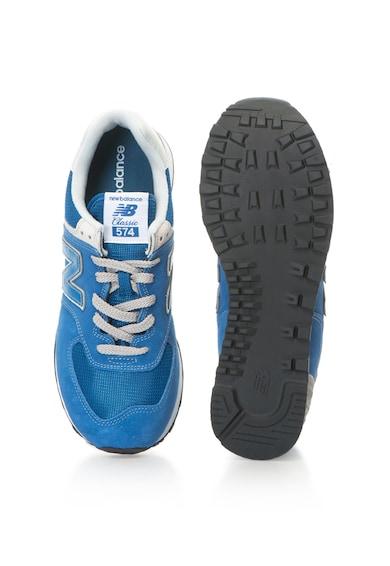 New Balance Pantofi sport de piele intoarsa cu aplicatie logo 574 Classic Barbati