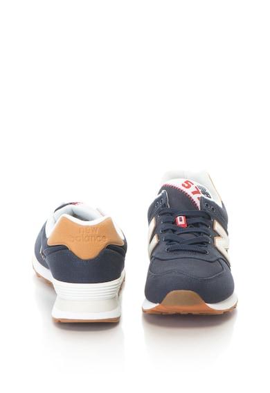 New Balance Pantofi sport din panza cu branturi detasabile 574 Classic Barbati