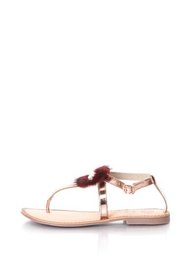 Gioseppo Кожени сандали с каишка на глезена Жени