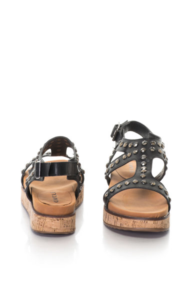 Oakoui Gianna strasszkövekkel díszített műbőr platform szandál női