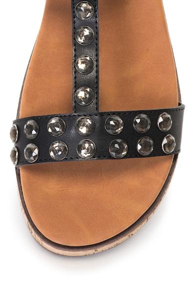 Oakoui Sandale cu bareta in forma de T decorate cu strasuri Gianna Femei