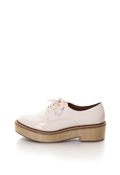 Emporio Armani Обувки Derby с платформа и лачена повърхност Жени