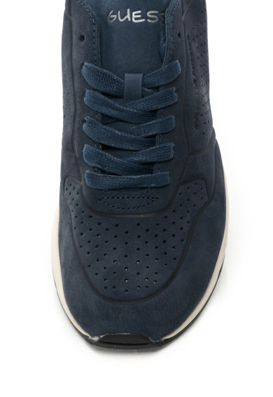 Guess Nubuk bőr sneakers cipő perforációkkal férfi
