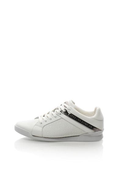 Guess Кожени спортни обувки с контрастен детайл Мъже