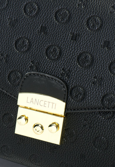 Lancetti Geanta crossbody de piele sintetica cu bareta din lant Femei