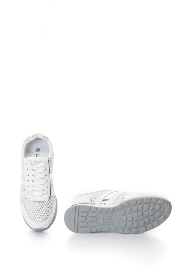 Laura Biagiotti Pantofi sport de piele sintetica, cu insertie de plasa Femei