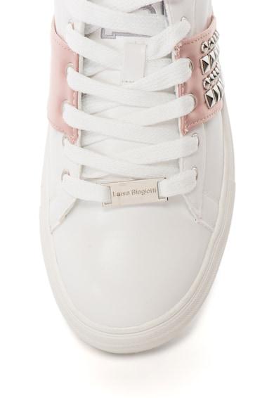 Laura Biagiotti Pantofi sport de piele sintetica, cu nituri Femei