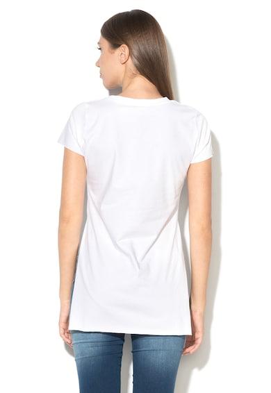 Fornarina Tricou cu imprimeu si slituri laterale Jodi Femei