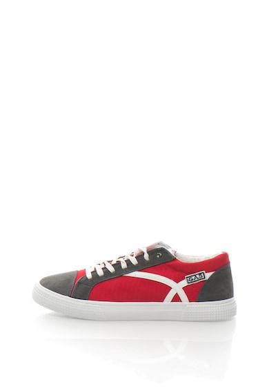 GAS Pantofi sport de panza cu garnituri de piele intoarsa CALIFORNIA Barbati